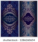 wedding invitation card with... | Shutterstock .eps vector #1286260654