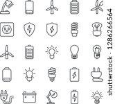 thin line icon set   bulb... | Shutterstock .eps vector #1286266564