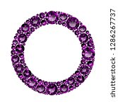 round frame made of realistic... | Shutterstock .eps vector #1286267737
