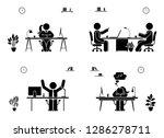 office meeting business men...   Shutterstock . vector #1286278711