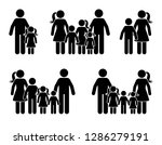 stick figure parents and... | Shutterstock . vector #1286279191