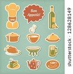 food and drink restaurant menu... | Shutterstock .eps vector #128628149