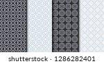 set of seamless geometrical... | Shutterstock .eps vector #1286282401