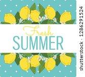 tropical citrus lemon fruits... | Shutterstock .eps vector #1286291524