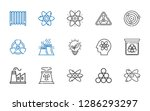 nuclear icons set. collection... | Shutterstock .eps vector #1286293297