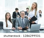 director and assistants near... | Shutterstock . vector #1286299531