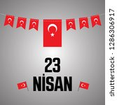 23 april  national sovereignty...   Shutterstock .eps vector #1286306917