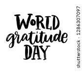 world gratitude day. greeting... | Shutterstock .eps vector #1286307097