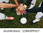 top view of hands of players... | Shutterstock . vector #1286309317
