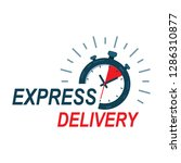 fast delivery watch service.... | Shutterstock .eps vector #1286310877