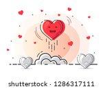 red heart rocket launch for...   Shutterstock .eps vector #1286317111