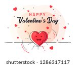 heart with rays shine. happy...   Shutterstock .eps vector #1286317117