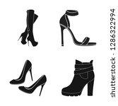 vector design of heel and high... | Shutterstock .eps vector #1286322994