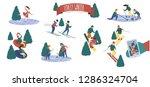 vector winter sports   Shutterstock .eps vector #1286324704