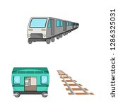 vector illustration of railroad ... | Shutterstock .eps vector #1286325031