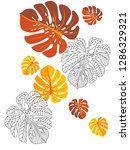 vector tropical pattern with... | Shutterstock .eps vector #1286329321