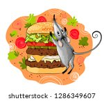 freehand vector drawn cartoon... | Shutterstock .eps vector #1286349607