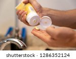 young caucasian hands squeezing ... | Shutterstock . vector #1286352124