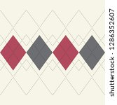white  red and grey argyle... | Shutterstock .eps vector #1286352607