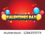 valentine day wallpaper red...   Shutterstock .eps vector #1286355574