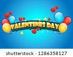 valentine day wallpaper blue...   Shutterstock .eps vector #1286358127