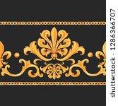watercolor golden baroque... | Shutterstock . vector #1286366707