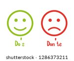 do's don'ts signs smile | Shutterstock .eps vector #1286373211