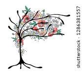 vector hand drawn graphic... | Shutterstock .eps vector #1286381557