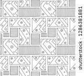 seamless vector pattern. black... | Shutterstock .eps vector #1286381881