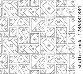 seamless vector pattern. black... | Shutterstock .eps vector #1286381884