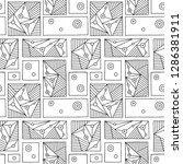 seamless vector pattern. black... | Shutterstock .eps vector #1286381911