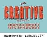 'creative' vintage 3d sans... | Shutterstock .eps vector #1286383267
