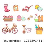 set of colorful spring icons.... | Shutterstock .eps vector #1286391451