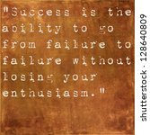 inspirational quote by winston... | Shutterstock . vector #128640809