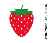 strawberry colored icon. vector ... | Shutterstock .eps vector #1286411887