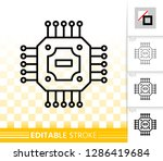 microchip thin line icon.... | Shutterstock .eps vector #1286419684