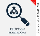 eruption search icon. editable... | Shutterstock .eps vector #1286421031