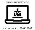 creme caramel search icon....   Shutterstock .eps vector #1286422207
