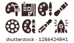 skill icon set. 8 filled skill ... | Shutterstock .eps vector #1286424841