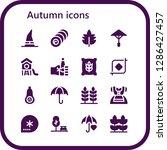 autumn icon set. 16 filled... | Shutterstock .eps vector #1286427457