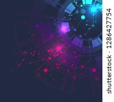 big data visualization. graphic ... | Shutterstock .eps vector #1286427754