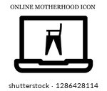 feeding chair search icon.... | Shutterstock .eps vector #1286428114