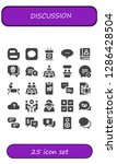 discussion icon set. 25 filled ... | Shutterstock .eps vector #1286428504