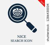 nice search icon. editable nice ...   Shutterstock .eps vector #1286430034