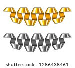 set of golden and silver... | Shutterstock .eps vector #1286438461