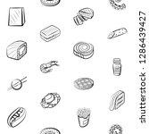 american food  japanese food ... | Shutterstock .eps vector #1286439427