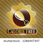 gold badge or emblem with... | Shutterstock .eps vector #1286447347