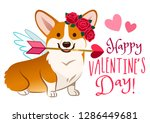 funny corgi dog dressed as... | Shutterstock .eps vector #1286449681