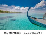 amazing landscape of maldives ... | Shutterstock . vector #1286461054