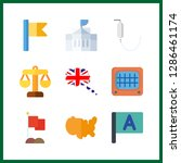 9 government icon. vector...   Shutterstock .eps vector #1286461174